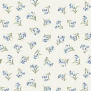 Lewis & Irene Flo's Wildflowers - 5436 - Bluebells on White - FLO10.4 - Cotton Fabric